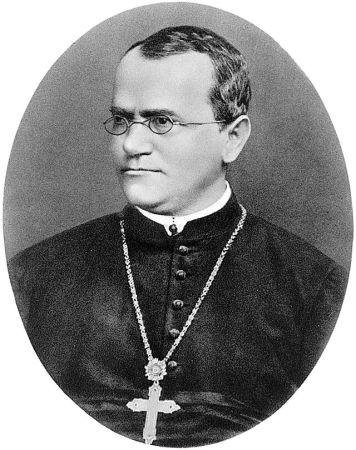 A photograph of Gregor Mendel (1822-1884).