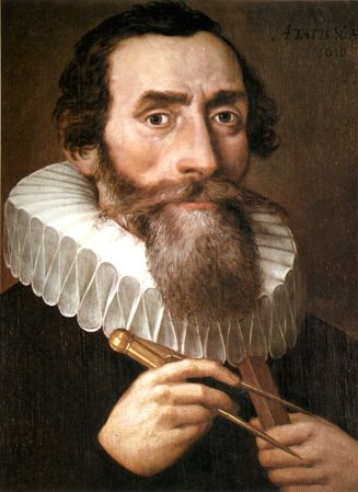 A 1610 portrait of Johannes Kepler (1571-1630).