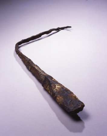 A lightning rod at the Franklin Institute in Philadelphia, Pennsylvania, believed to be one of Benjamin Franklin's originals.