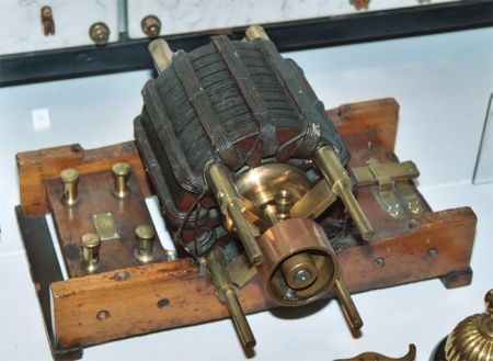 One of Nikola Tesla's original alternating current motors, now at the British Museum.