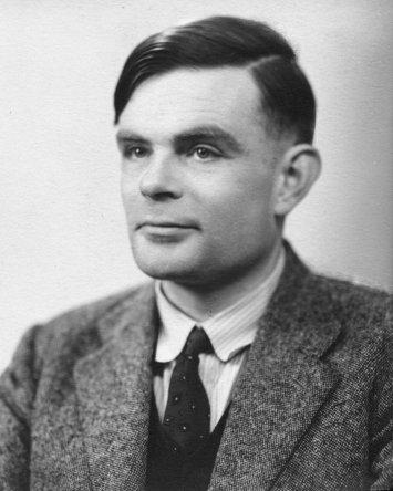 A photograph of Alan Turing.