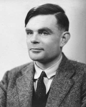 A photograph of Alan Turing.