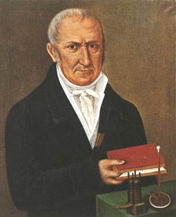 A portrait of Alessandro Volta.