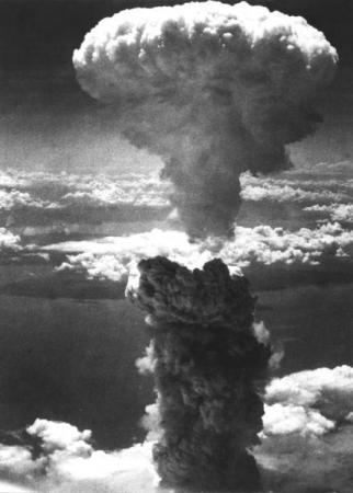 Atomic Bomb over Nagasaki is a photograph by Charles Levy.