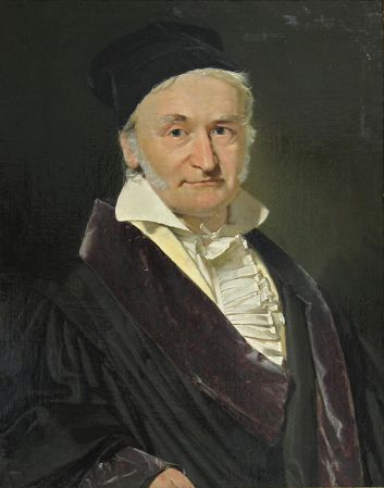 An 1840 portrait of Carl Friedrich Gauss by Christian Albrecht Jensen.