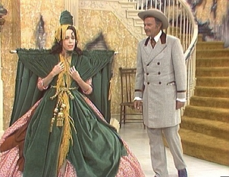 "Carol Burnett and Harvey Korman in ""Went with the Wind."""