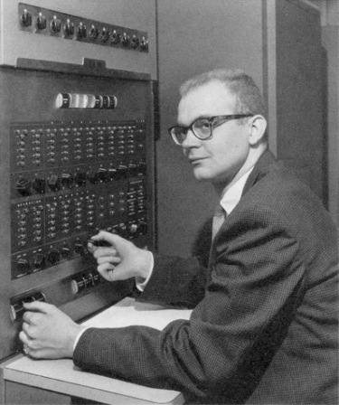 A 1958 photograph of Donald Knuth.