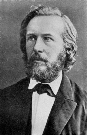 An 1860 photograph of Ernst Haeckel.