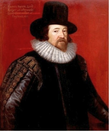 A 1617 portrait of Francis Bacon by Frans Pourbus.