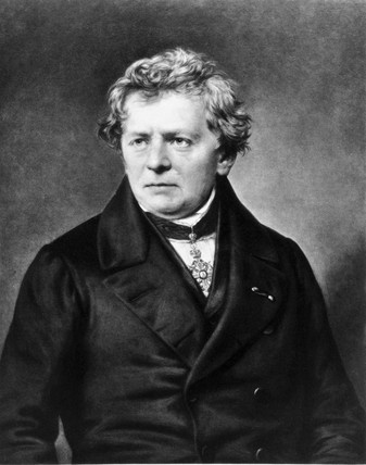 A photograph of Georg Ohm.