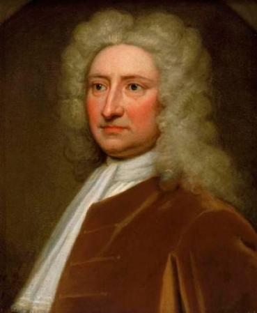 A portrait of Edmond Halley by Godfrey Kneller, c. 1721.