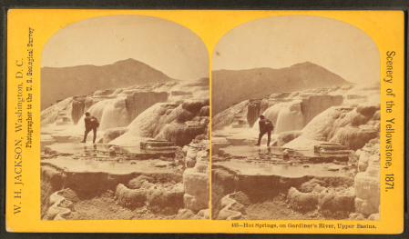 Jackson's Hot Springs was designed for viewing in a stereograph.