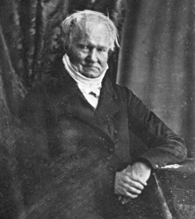 Hermann Biot's photographic portrait of German scientist Alexander von Humboldt.