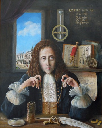 An artist's impression of Robert Hooke.