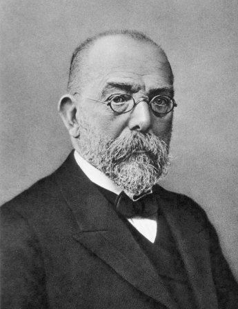 A photograph of Robert Koch.