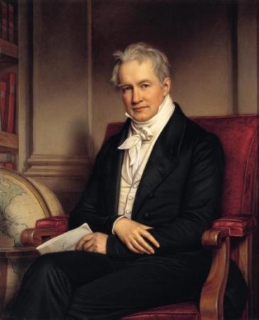 An 1843 portrait of Alexander von Humboldt by Joseph Karl Stieler.