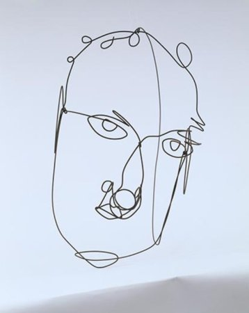 A 1968 Self-Portrait by Alexander Calder.