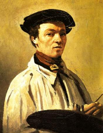 An undated Self-Portrait of Jean-Baptiste-Camille Corot.