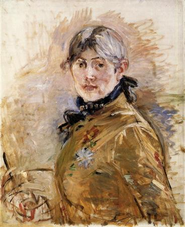 An 1885 Self-Portrait by Berthe Morisot.