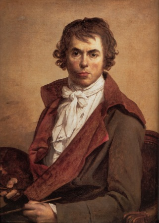 A 1794 Self-Portrait by Jacques-Louis David.