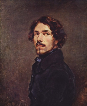 An 1840 Self-Portrait by Eugène Delacroix.