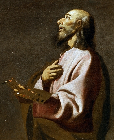 A probable self-portrait of Francisco de Zurbarán as Saint Luke, c. 1635–1640.