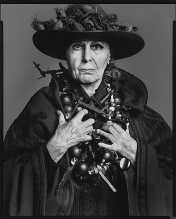 Richard Avedon's 1975 portrait of Louise Nevelson. (c) Richard Avedon.