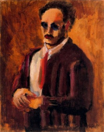 A 1936 Self-Portrait by Mark Rothko.