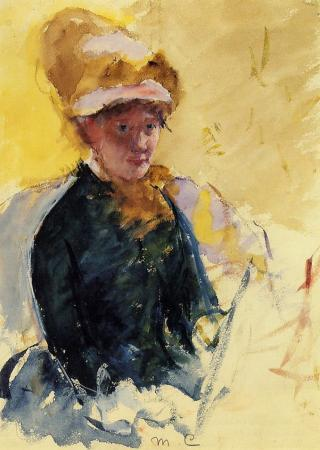 An 1880 Self-Portrait by Mary Cassatt.