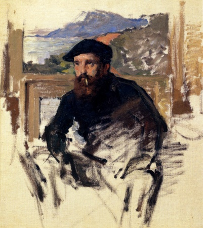 Claude Monet's Self-Portrait in His Atelier (c. 1884).