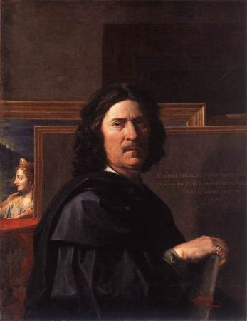 A 1650 Self-Portrait by Nicolas Poussin.