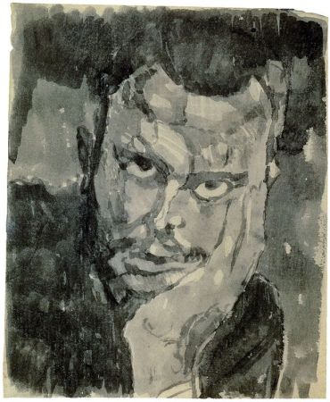 A 1909 Self-Portrait of Paul Klee.