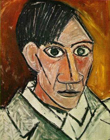 A 1907 Self-Portrait of Pablo Picasso.