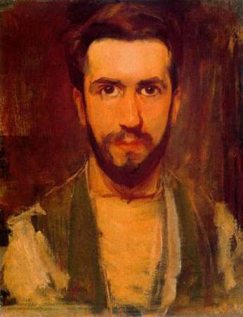 A 1900 Self-Portrait by Piet Mondrian.
