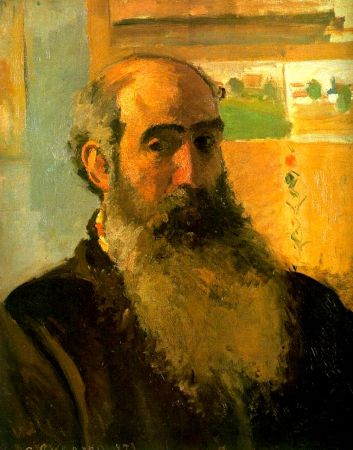 An 1873 Self-Portrait by Camille Pissarro.