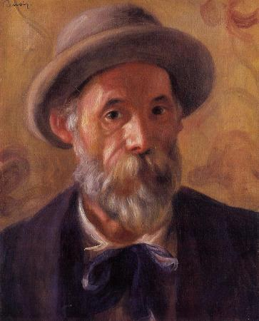 Self-Portrait of Pierre-Auguste Renoir dated 1899.