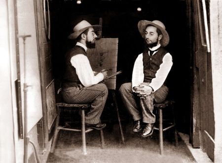 Mr. Toulouse Paints Mr. Lautrec, an 1891 photograph by Maurice Guibert.