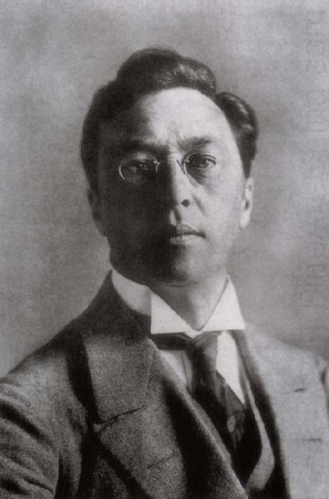 An undated photograph of Wassily Kandinsky.