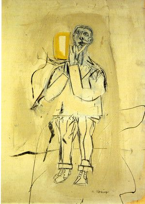 A 1947 Self-Portrait of Willem de Kooning.