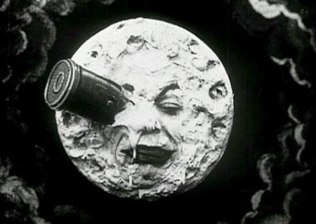 A still image from A Trip to the Moon.