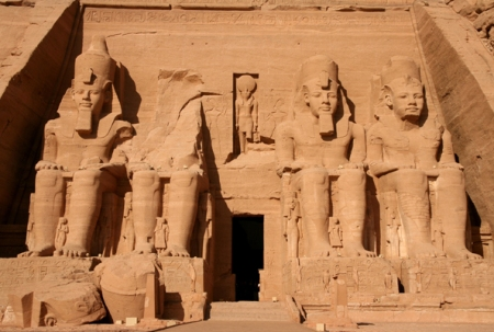 Four giant statues of Ramesses II greeted visitors to the temple built by the pharaoh at Abu Simbel,