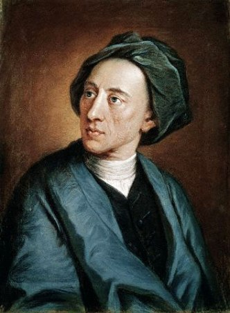 A portrait of Alexander Pope.