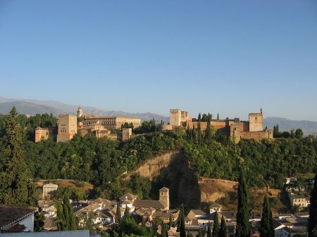 A view of the Alhambra.