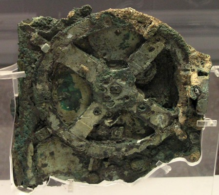 The remains of the antikythera mechanism, which was discovered in the waters off the island of Antikythera in