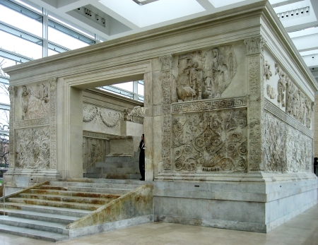 The Ara Pacis Augustae (altar of Augustan peace) in Rome.