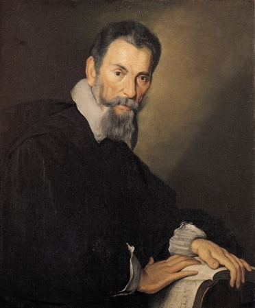 A 1640 portrait of Claudio Monteverdi by Bernardo Strozzi.