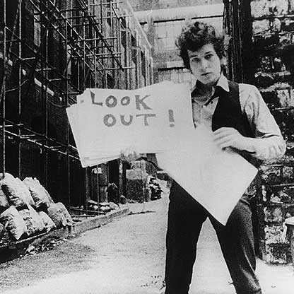 Bob Dylan in D.A. Pennebaker's documentary Don't Look Back.
