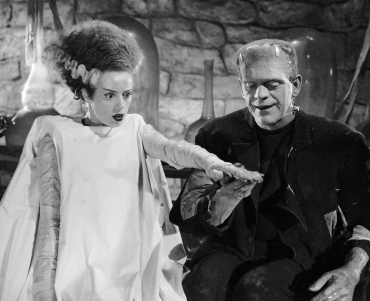 Elsa Lanchester and Boris Karloff in Bride of Frankenstein.