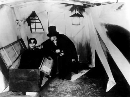 A still image from The Cabinet of Dr. Caligari.