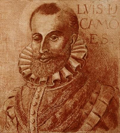 A portrait of Luis vaz Camões by Fernão Gomes.